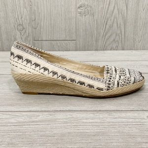 Lucky Brand Canvas Slip On Espadrille Wedges 8.5